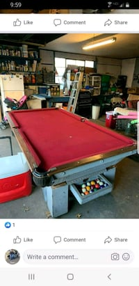 Pool Table - Solid and heavy, great for garage