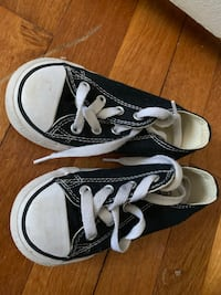 pair of black-and-white Vans sneakers Woodbridge, 22193