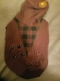 brown Hello Baby embroidered small  Lincoln, 68512