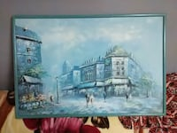 V. Hanin Marketplace Oil Painting on canvas