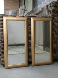 Twin set of golden frame MIRRORS Falls Church, 22041