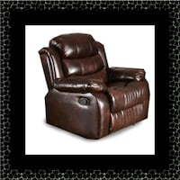 Burgundy recliner chair Hillcrest Heights