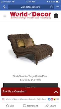 Bairly used. simply it did not fit my bedroom it is a very big chaise Irving, 75062