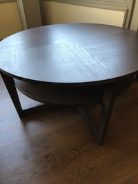 round brown wooden coffee table Portland, 97214
