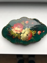 Beautiful hand  painted hair clip