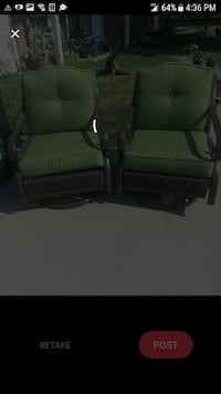 two black wooden framed armchairs Jefferson City, 65109