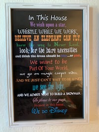 'In this house' Disney wall decor
