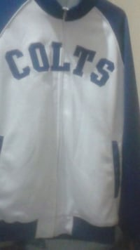 white and blue jersey shirt