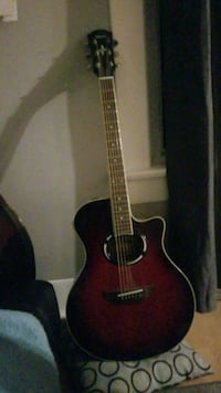 red and black classical guitar Calgary, T2T