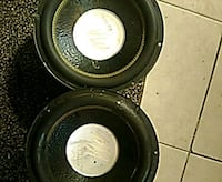 two black and gray coaxial speakers Bakersfield, 93308
