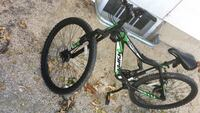 green and black full-suspension bike Winnipeg, R2G 0L5