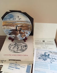 Vintage Collectible Plate Canadian Goose Green Ridge, 19014