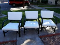 Set of 3 PATIO CHAIRS w/ Cushions