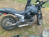 black and gray standard motorcycle 7 km