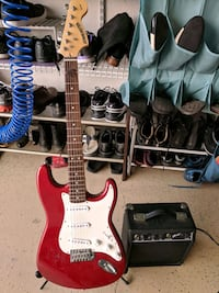 red and white stratocaster electric guitar San Ramon, 94583