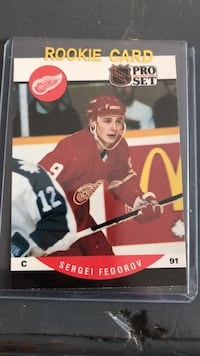 Hockey card. Sergei Federov 1990 Proset Rookie Card Georgetown, L7G 5Y1
