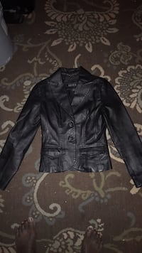 black leather button-up jacket Snellville, 30039