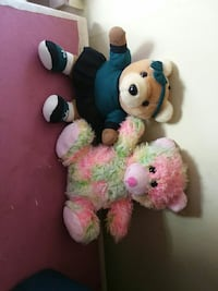 two pink and blue bear plush toys 428 mi