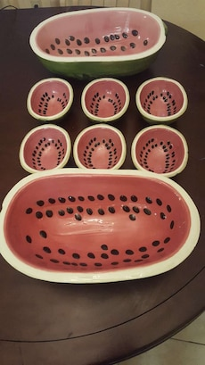 watermelon themed ceramic bowls