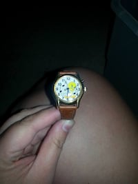 tweety bird print analog watch with brown leather strap Billings, 59101