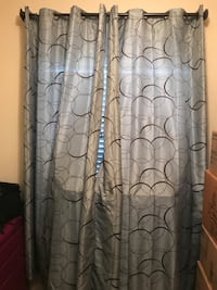 brown and black floral window curtain Brandon, 33511