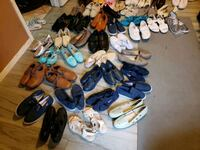 Assorted adults shoes and clothings