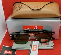 black framed Ray-Ban sunglasses with case 1330 mi