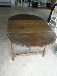 Oval shaped table