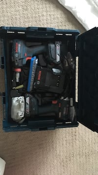 Black and blue bosch corded power tool Edmonton, T6W 2P3