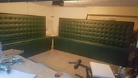 two green button  leather padded bench Orlando, 32811