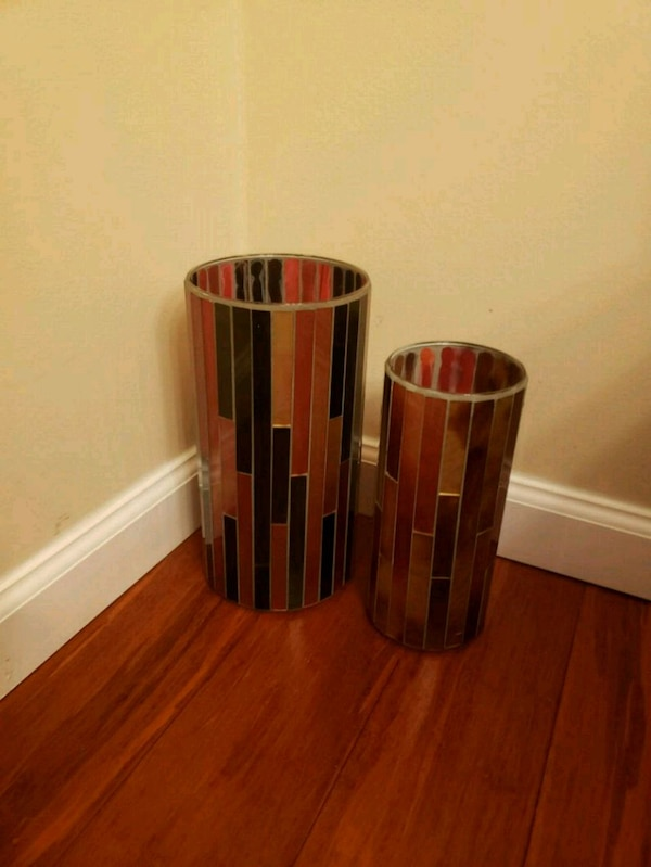 Crate and barrel candle vase hurricane