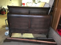 Queen Sleigh Bed with Rails El Paso