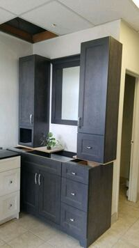black wooden cabinet with mirror Mississauga