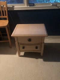 Solid wood night stand or side table