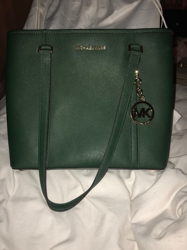 81c28512a43f Used Black michael kors leather tote bag for sale in Hiram - letgo