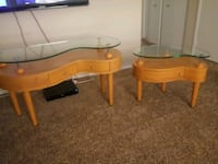 SET WOOD & GLASS TABLES Las Vegas, 89119