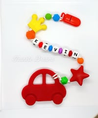 Car baby teether clothes custom name kid red  Richmond, V6Y 1P3