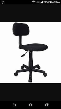 black suede swivel chair Peoria, 85381