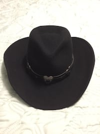 Black cowgirl wool hat made in the USA Lancaster, 93536