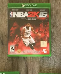 XBox One Video Game NBA 2K16