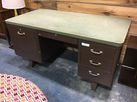 Large Metal Desk by Cole