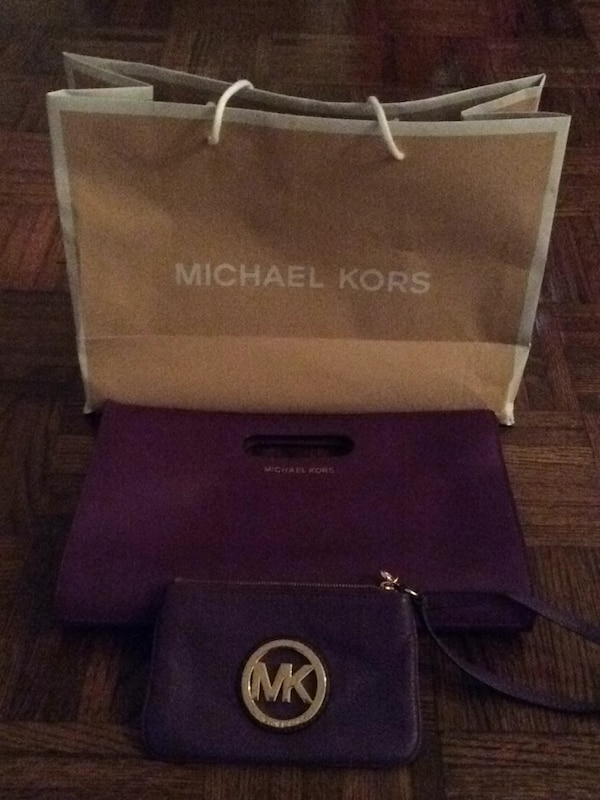 773cf3c733b5 Used brown and black leather Michael Kors tote bag for sale - letgo