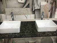 Cambria laneshaw vanity top with sinks and faucets Gaithersburg