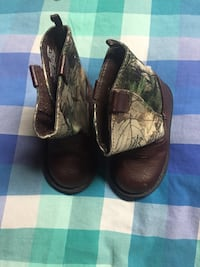 pair of brown leather cowboy boots Markham, L3S 1E1