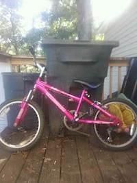 pink and black BMX bike 6speed Bunker Hill, 25413
