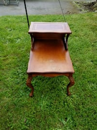 brown wooden 2-tier end table Victoria, V9C 2P2