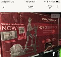 NIB ProForm Elliptical Laurel, 20708
