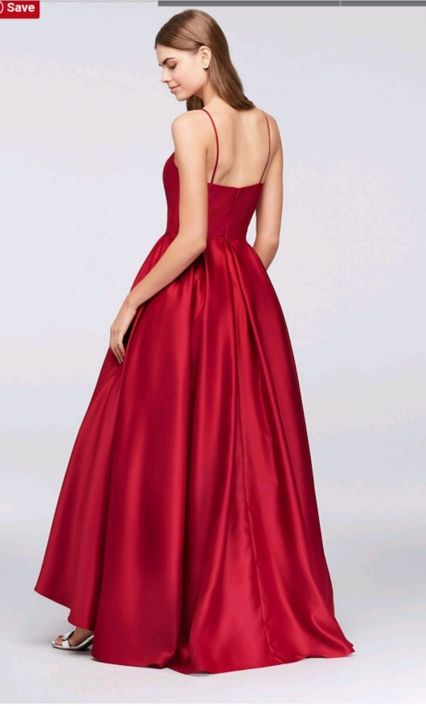 High Neck Satin Ball Gown  2a3bf443-ae0f-498c-826f-e97ef8ec96a2