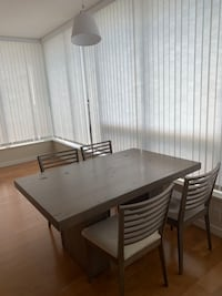 Dining table with 4 chairs all solid wood Vancouver, V6N 2P5