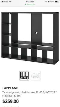 Tv stand with shalves ikea